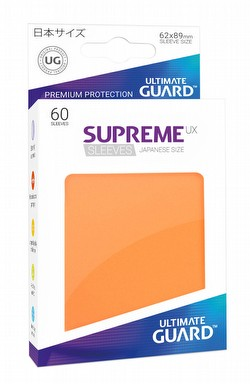 Ultimate Guard Supreme UX Japanese/Yu-Gi-Oh Size Orange Sleeves Pack