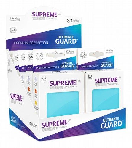 Ultimate Guard Supreme UX Standard Size Aquamarine Sleeves Box [10 packs]