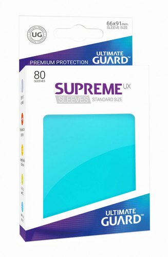Ultimate Guard Supreme UX Standard Size Aquamarine Sleeves Pack