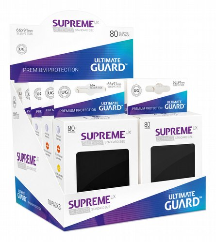 Ultimate Guard Supreme UX Standard Size Black Sleeves Box [10 packs]