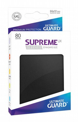 Ultimate Guard Supreme UX Standard Size Black Sleeves Pack