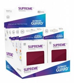 Ultimate Guard Supreme UX Standard Size Burgundy Sleeves Box [10 packs]