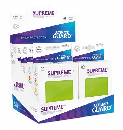 Ultimate Guard Supreme UX Standard Size Light Green Sleeves Box [10 packs]
