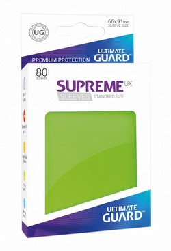Ultimate Guard Supreme UX Standard Size Light Green Sleeves Pack