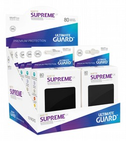 Ultimate Guard Supreme UX Standard Size Matte Black Sleeves Box [10 packs]