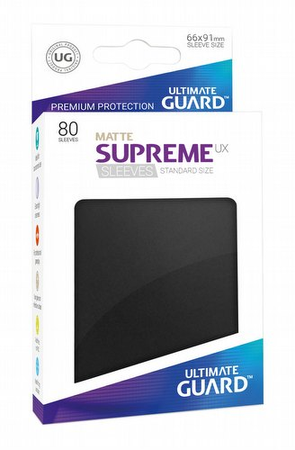 Ultimate Guard Supreme UX Standard Size Matte Black Sleeves Pack