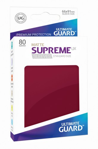 Ultimate Guard Supreme UX Standard Size Matte Burgundy Sleeves Pack