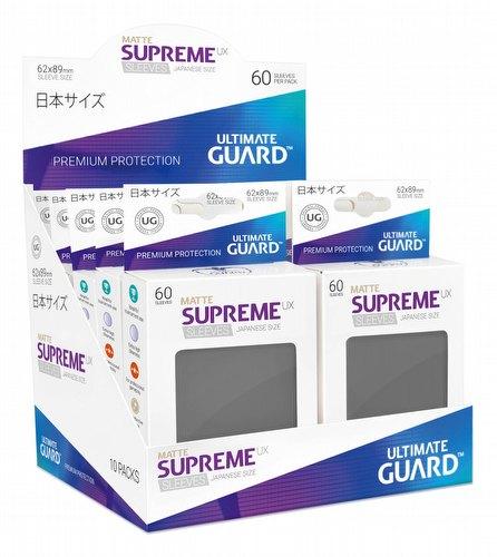 Ultimate Guard Supreme UX Standard Size Matte Dark Grey Sleeves Box [10 packs]
