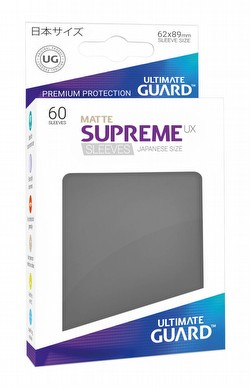 Ultimate Guard Supreme UX Standard Size Matte Dark Grey Sleeves Pack