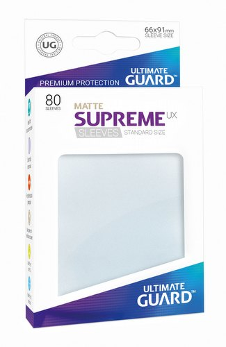 Ultimate Guard Supreme UX Standard Size Matte Frosted Sleeves Pack
