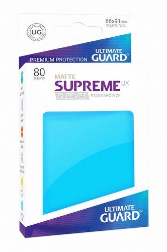 Ultimate Guard Supreme UX Standard Size Matte Light Blue Sleeves Pack