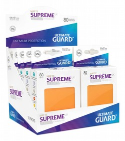 Ultimate Guard Supreme UX Standard Size Matte Orange Sleeves Box [10 packs]