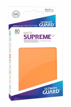 Ultimate Guard Supreme UX Standard Size Matte Orange Sleeves Pack