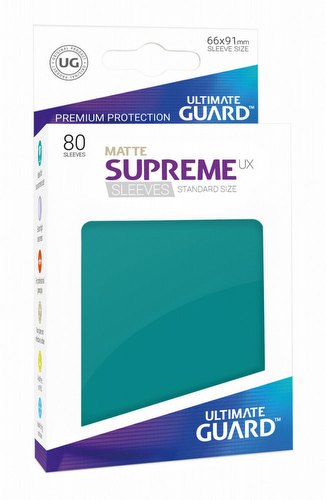 Ultimate Guard Supreme UX Standard Size Matte Petrol Blue Sleeves Pack
