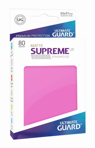 Ultimate Guard Supreme UX Standard Size Matte Pink Sleeves Pack