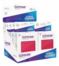 Ultimate Guard Supreme UX Standard Size Matte Red Sleeves Box [10 packs]