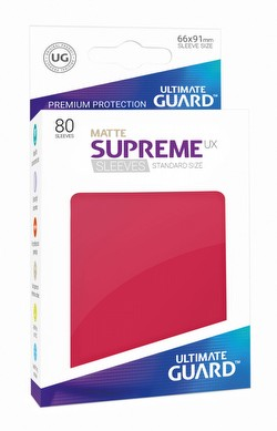 Ultimate Guard Supreme UX Standard Size Matte Red Sleeves Pack