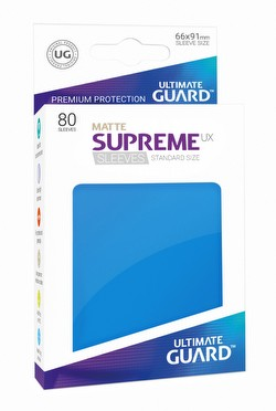 Ultimate Guard Supreme UX Standard Size Matte Royal Blue Sleeves Pack