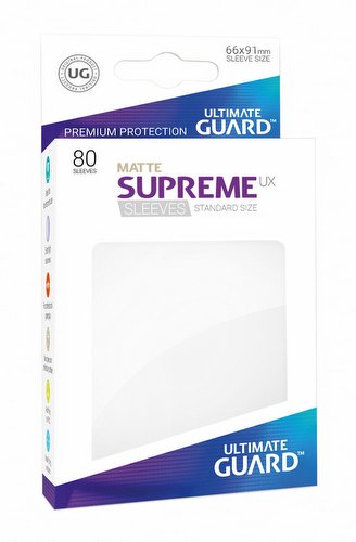 Ultimate Guard Supreme UX Standard Size Matte White Sleeves Pack