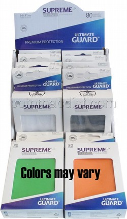 Ultimate Guard Supreme UX Standard Size Mixed Colors Sleeves Box [10 packs]