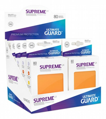 Ultimate Guard Supreme UX Standard Size Orange Sleeves Box [10 packs]