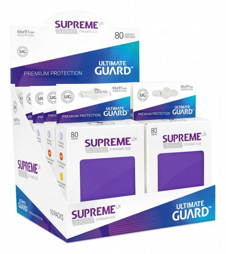 Ultimate Guard Supreme UX Standard Size Purple Sleeves Box [10 packs]