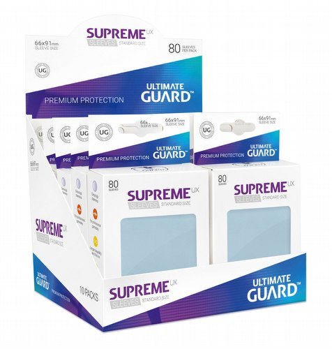 Ultimate Guard Supreme UX Standard Size Transparent Sleeves Box [10 packs]