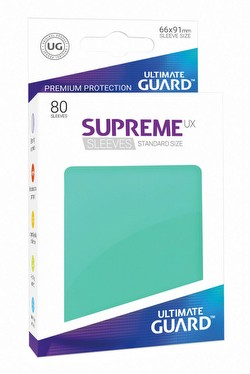 Ultimate Guard Supreme UX Standard Size Turquoise Sleeves Pack