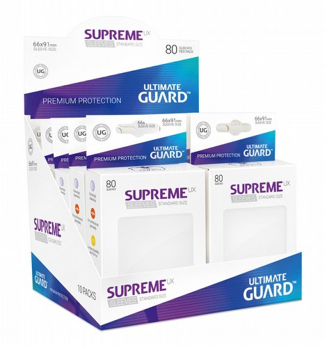 Ultimate Guard Supreme UX Standard Size White Sleeves Box [10 packs]