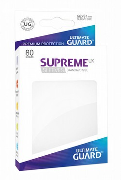 Ultimate Guard Supreme UX Standard Size White Sleeves Pack