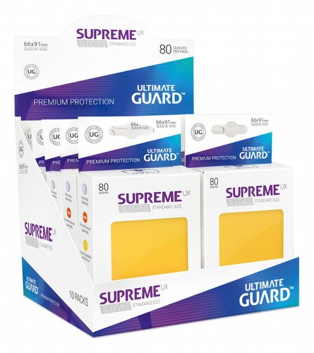 Ultimate Guard Supreme UX Standard Size Yellow Sleeves Box [10 packs]