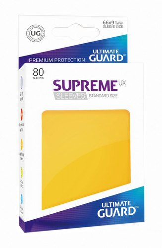 Ultimate Guard Supreme UX Standard Size Yellow Sleeves Pack