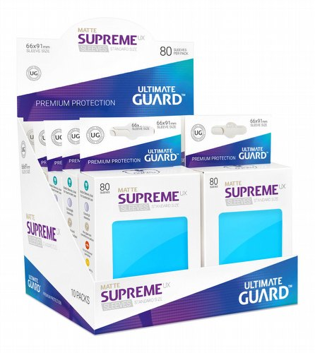 Ultimate Guard Supreme UX Standard Size Matte Light Blue Sleeves Box [10 packs]