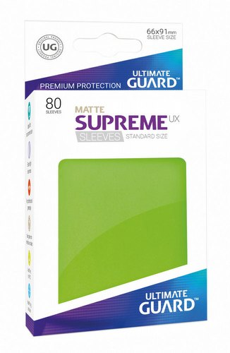 Ultimate Guard Supreme UX Standard Size Matte Light Green Sleeves Pack