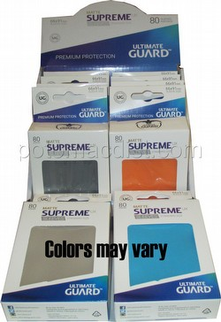Ultimate Guard Supreme UX Standard Size Matte Mixed Colors Sleeves Box [10 packs]