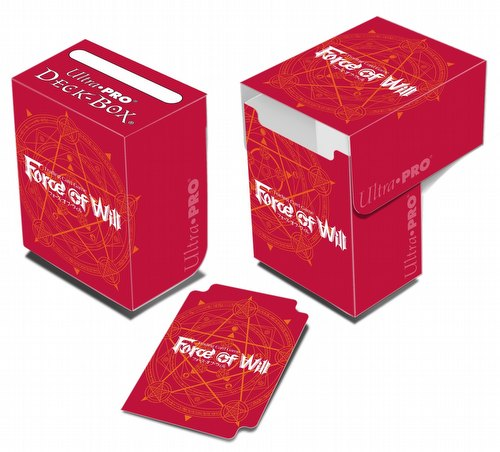 Ultra Pro Force of Will Red Card Back Deck Box