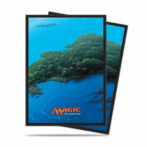 Ultra Pro Standard Size Deck Protectors - Mana 5 Island Pack