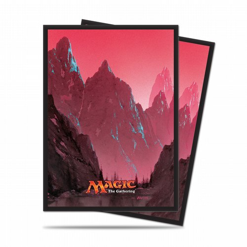 Ultra Pro Standard Size Deck Protectors - Mana 5 Mountain Pack