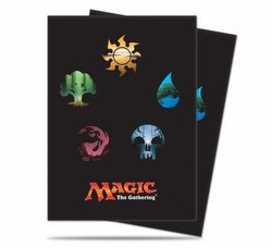 Ultra Pro Standard Size Deck Protectors - Magic Mana 5 All Symbol [10 packs]