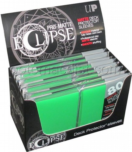 Ultra Pro Pro-Matte Eclipse Standard Size Deck Protectors Box - Green