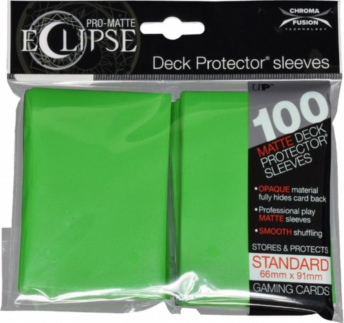 Ultra Pro Pro-Matte Eclipse Chroma Fusion Standard Size Deck Protectors Pack - Lime Green