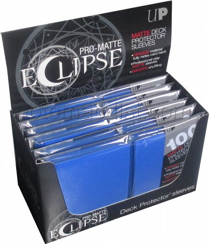 Ultra Pro Pro-Matte Eclipse Chroma Fusion Standard Size Deck Protectors Box - Pacific Blue