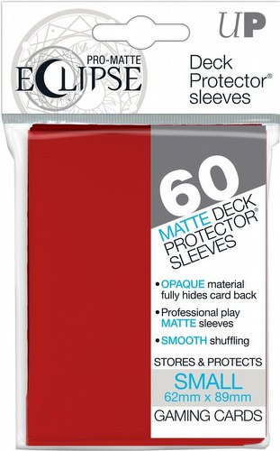 Ultra Pro Pro-Matte Eclipse Chroma Fusion Small/Yu-Gi-Oh Size Deck Protectors Pack - Apple Red