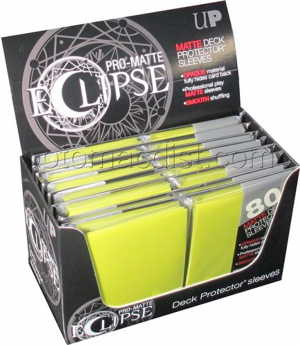 Ultra Pro Pro-Matte Eclipse Standard Size Deck Protectors Box - Yellow