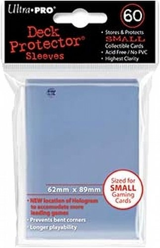 Ultra Pro Size Deck Protectors Pack - Clear [60 sleeves/62mm x 89mm]