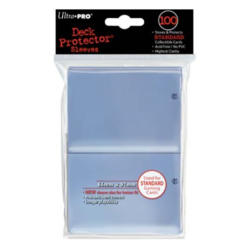 Ultra Pro Standard Size Deck Protectors - Clear [2 packs]