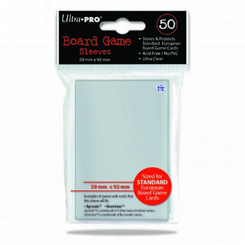 Ultra Pro Standard European Board Game Sleeves Pack [59mm x 92mm]