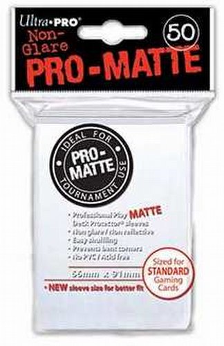 Ultra Pro Pro-Matte Standard Size Deck Protectors Pack - White
