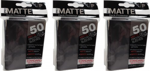 Ultra Pro Pro-Matte Standard Size Deck Protectors [Black/3 Packs]