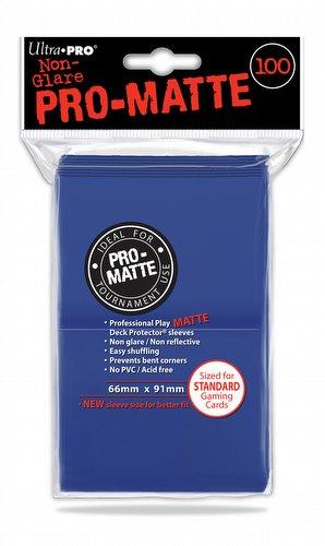 Ultra Pro Pro-Matte Standard Size Deck Protectors - Blue [6 packs]